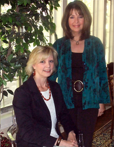Beverly Tanis (L) and Virginia Flaherty (R), Owners - Operators of Timeless Decor Interior Decorating, Ridgewood NJ 07450 USA