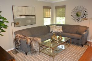 Transitional Family Room designed by Timeless Decor - Interior Design Ridgewood, NJ Bergen County NJ