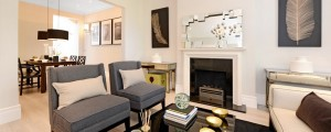Living Room Timeless Decor Interior Design & Home Staging - Ridgewood, NJ