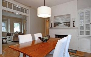Making a room appear as large as possible is one of the goals of home staging.
